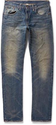 RRL - Slim-Fit Distressed Denim Jeans