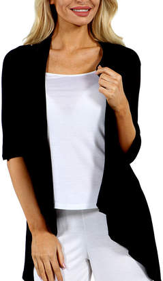 24/7 Comfort Apparel Women's 3/4-sleeve Open Cardigan