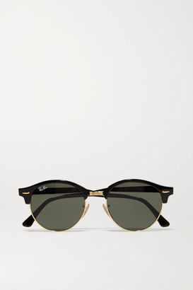 Ray-Ban - Clubround Acetate And Gold-tone Sunglasses - Black $160 thestylecure.com