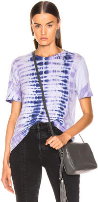 Raquel Allegra Boxy Tee in Lilac Tie Dye | FWRD