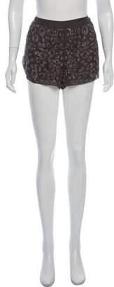 Rebecca Taylor Silk Embellished Shorts