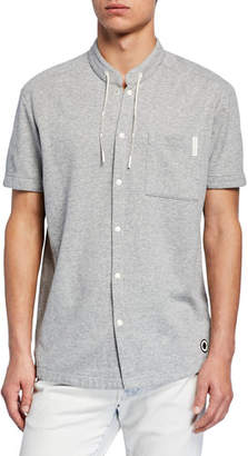 Scotch & Soda Men's x Club Nomade Drawstring-Collar Shirt