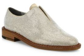 Robert Clergerie Jine Crystal-Embellished Suede Oxfords $775 thestylecure.com