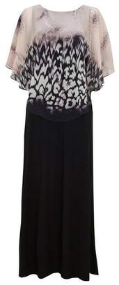 Wallis Black Animal Print Maxi Dress