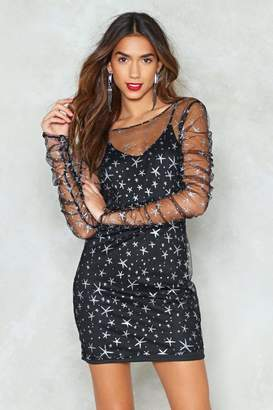 Nasty Gal Wanna Mesh With Us Star Dress