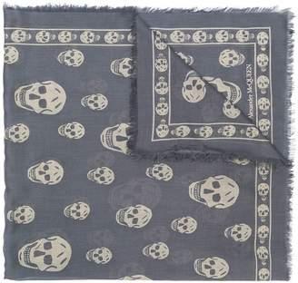 Alexander McQueen Skull print square scarf