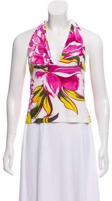 Dolce & Gabbana Floral Halter Top