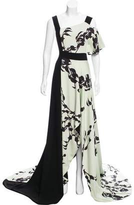 Bibhu Mohapatra Printed High-Low Dress