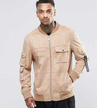 Underated Faux Suede Utility Jacket