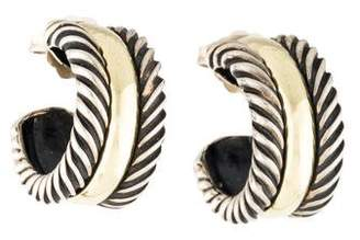 David Yurman Cable Collectibles Hoop Earrings with 14K Gold