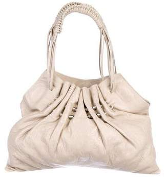 Kenzo Pleated Leather Handle Bag