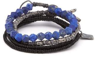 M. Cohen The Create Stack Ii Bead Embellished Bracelet - Mens - Blue Multi