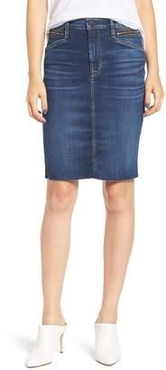Hudson Jeans Helena Zip Pocket Denim Pencil Skirt
