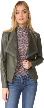 BB Dakota Peppin Drape Front Jacket $95 thestylecure.com