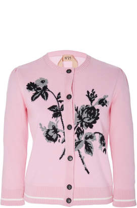 N°21 N 21 Clarissa Wool Embroidered Cardigan