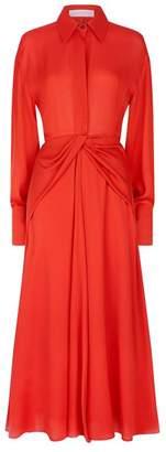 Victoria Beckham Point Collar Midi Dress