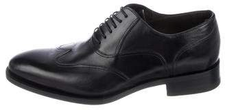 Canali Leather Lace-Up Oxfords