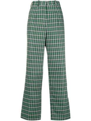 Ports 1961 plaid tailored trousers