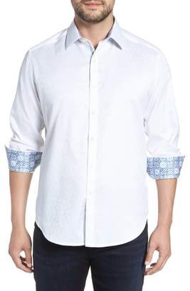 Robert Graham Bolton Regular Fit Jacquard Sport Shirt
