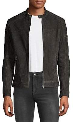 Selected Quilted Suede Jacket