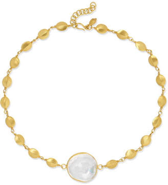 Pippa Small 18-karat Gold Crystal Choker