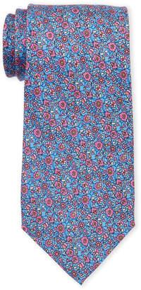 Pierre Cardin Flower Print Silk Tie