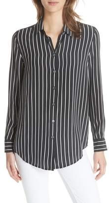 Equipment Essential Stripe Silk Shirt
