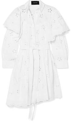 Simone Rocha Layered Broderie Anglaise Cotton Dress - White