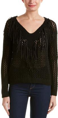 RD Style Open-Knit Fringe Sweater