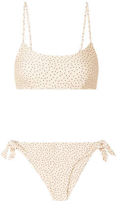 Faithfull The Brand Lara And Elsa Polka-dot Bikini - Cream