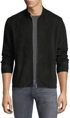Theory Arvid Suede Zip-Front Coat