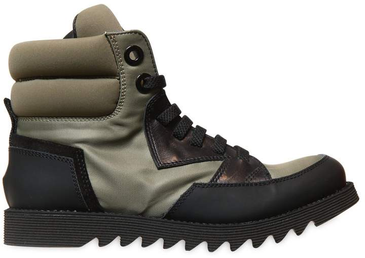 Bruno Bordese Next Generation Leather & Canvas High Top Sneakers