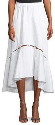 Tabitha Prose & Poetry A-Line High-Low Cotton Midi Skirt