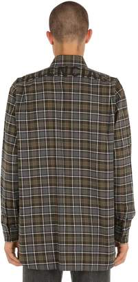 Balenciaga Logo Printed Flannel Check Shirt