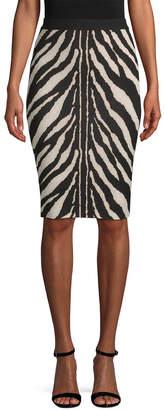 Ronny Kobo Zebra Pencil Skirt