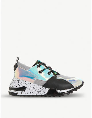 1c61f386bbf Steve Madden Cliff flatform mixed-print leather trainers
