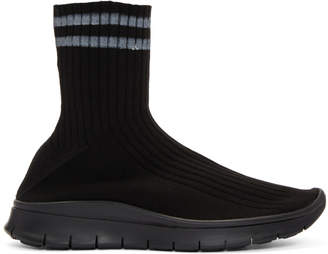 Maison Margiela Black High-Top Sock Sneakers