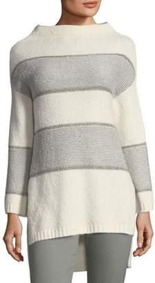 St. John Funnel-Neck Sweater