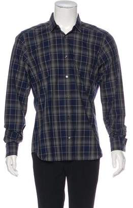 Christian Dior Plaid Dress Shirt