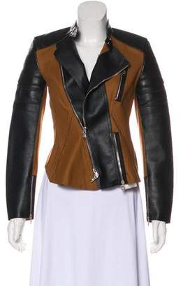 3.1 Phillip Lim Leather-Paneled Wool Coat