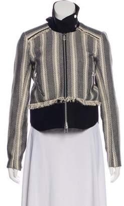 Veronica Beard Tweed Zip-Up Jacket