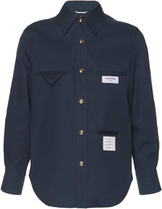 Thom Browne Inside Out Cotton Shirt Jacket