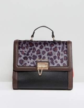 Silvian Heach Leopard Printed Handheld Bag