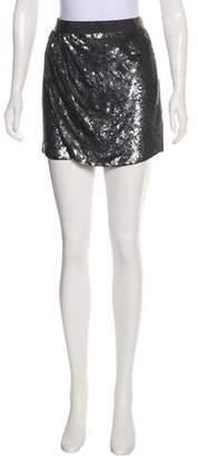 Haute Hippie Hematite Mini Skirt w/ Tags