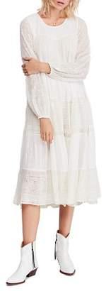 Free People Gemma Eyelet Midi Dress