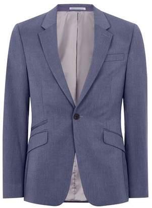 Topman Mens Blue Marl Muscle Fit Suit Jacket