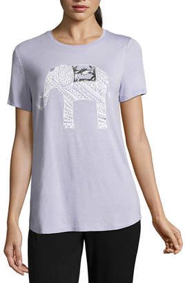 Ambrielle Short Sleeve Animal Pajama Top