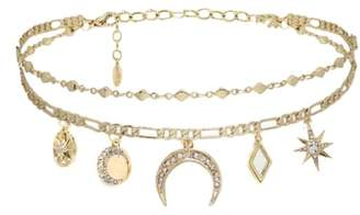 Ettika Mirror Charm Choker Necklace