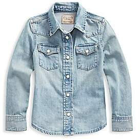 Ralph Lauren Little Girl's Western Denim Shirt