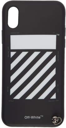 Off-White Black Diag Strap iPhone X Case